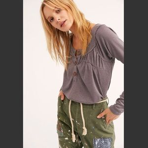 Free People super soft henley current price $68